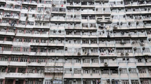 Residential units in an apartment complex in Quarry Bay, Hong Kong